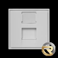 Лицевая панель 1 порт (45х45, Keystone, шторка)