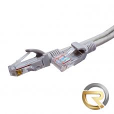 Патч-корд SUPRLAN FTP 5e 4x2 26AWG (7x0.16mm) Cu PVC серый 0,5м
