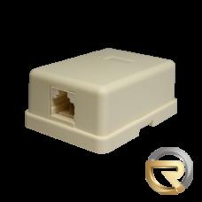 Компьютерная розетка 6P4C (RJ-11) 1 порт (белая)