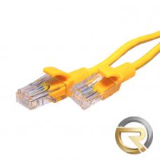 Патч-корд SUPRLAN UTP 5e 4x2 26AWG (7x0.16mm) Cu LSZH желтый 1м